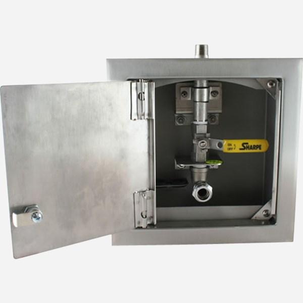 Dialysis Supply Waste Box One Valve With Door