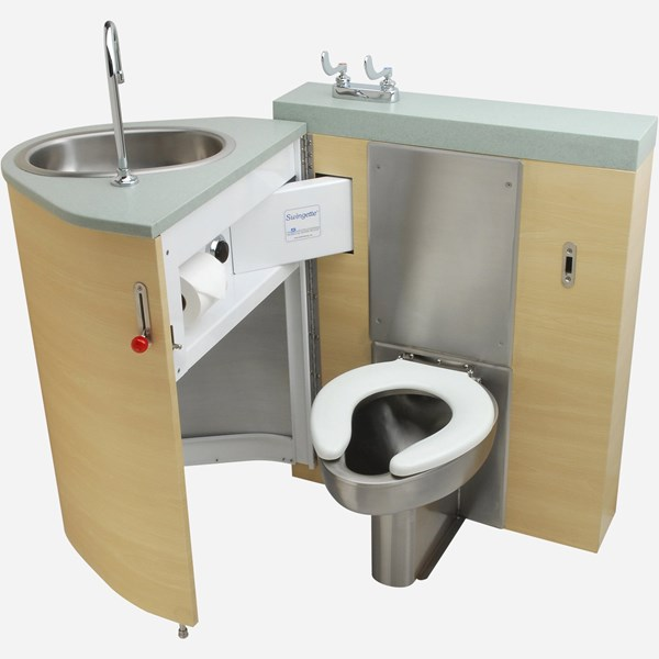 Back Waste Outlet Fixed Toilet With Pivoting Oval