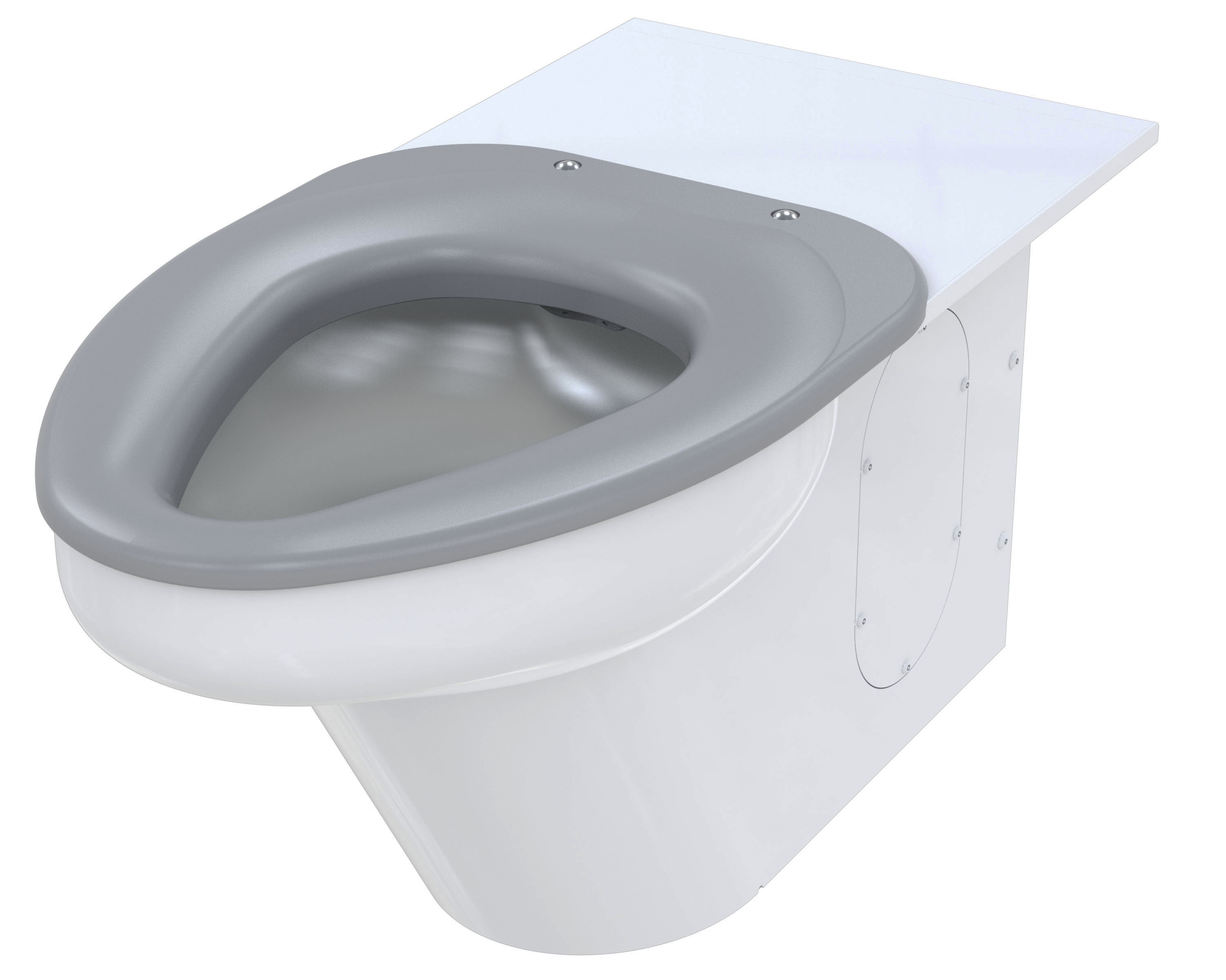 Ligature-Resistant Toilet, Wall Supply, On-Floor, Wall Waste