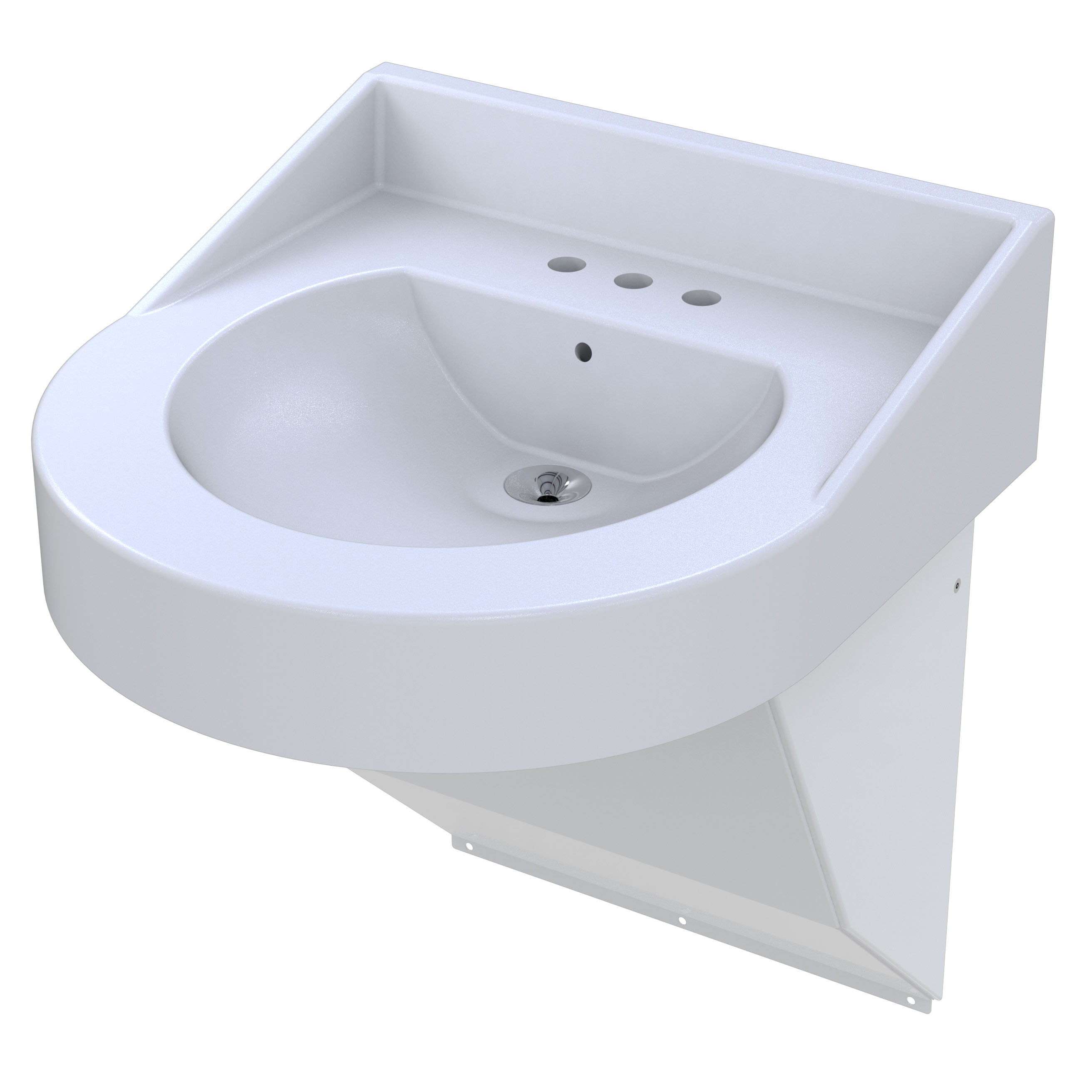 Ligature Resistant, ADA Compliant Corterra™ Cast Solid Surface Basin ...