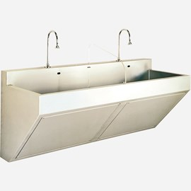 Two Station Compact Scrub Sink