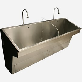 Two Station ADA Compliant Compact Scrub Sink