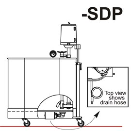 Separate Drain Pump for Mobile Whirlpools