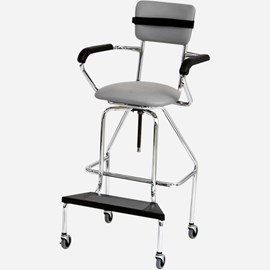 Adjustable High Chair with Caster