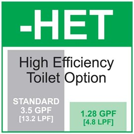 High Efficiency Toilet (1.28 GPF)