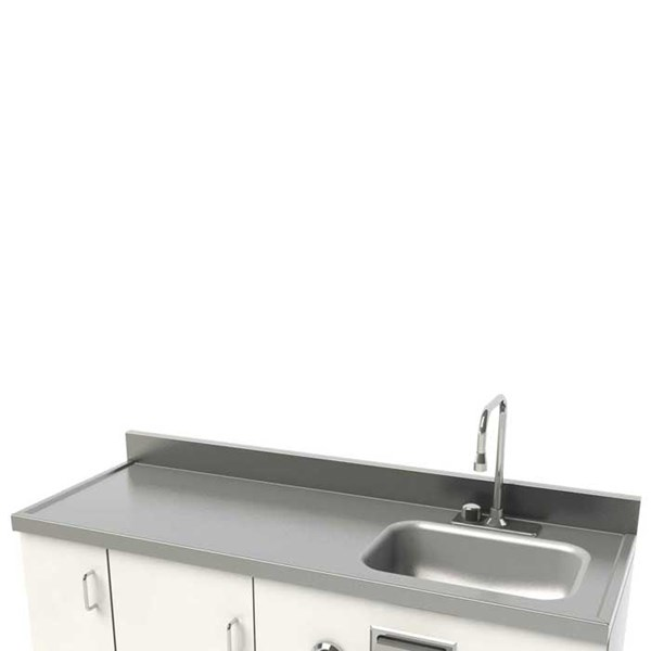 Stainless Steel Countertop with Integral Lavy Bowl