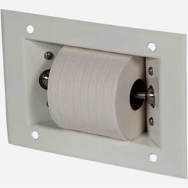 Recessed Auto-Release Toilet Paper Holder
