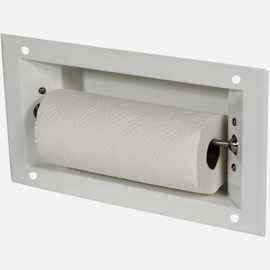 Recessed Auto-Release Paper Towel Roll Holder