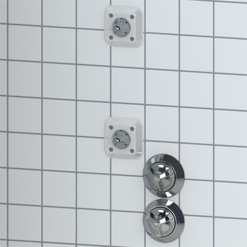 Dual Ligature Resistant Shower Heads And Valves