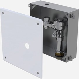 Recessed Cabinet with Flush Valve
