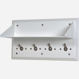 Ligature Resistant Shelf with Auto Release Hooks