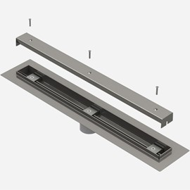 Ligature Resistant Linear Drain with Flashing Flange