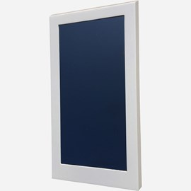 Stainless Steel Mirror with Ligature Resistant Solid Surface Frame