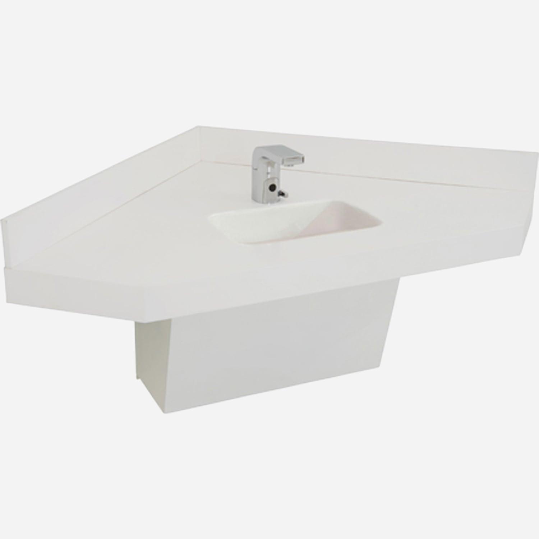 ADA Compliant Corterra™ Cast Solid Surface Corner Basin