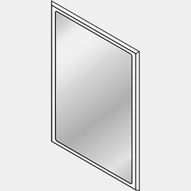 "Ligature Resistant 27 x 37"" Stainless Steel Mirror with Concealed Front Mounting"