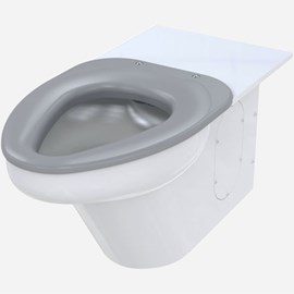 Ligature-Resistant Toilet,  Wall Supply, On-Floor