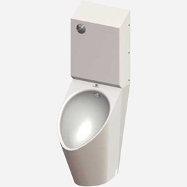 Ligature-Resistant, High Efficiency Urinal, Top Supply