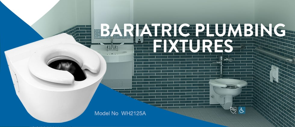 Bariatric equipment plumbing fixtures