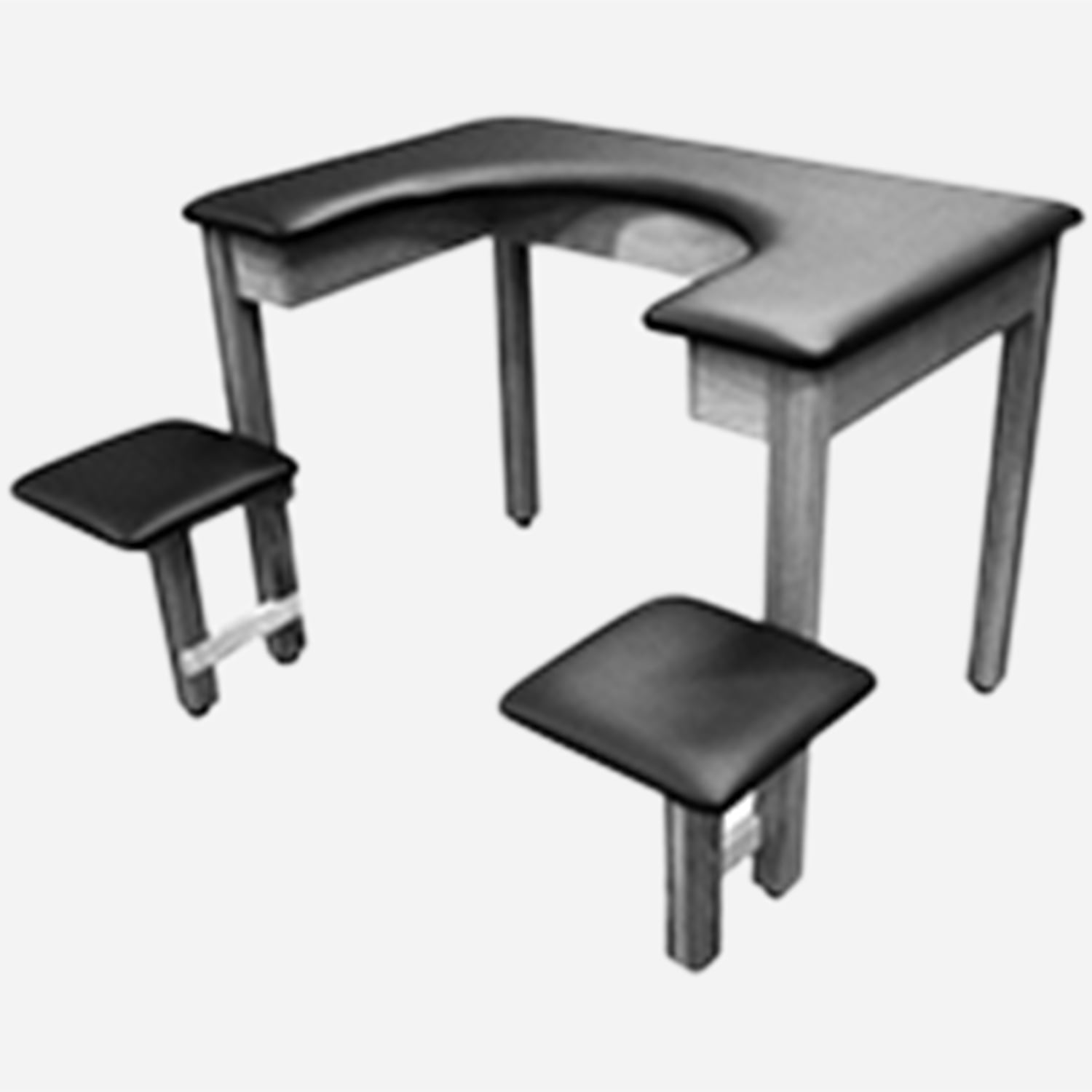 Combination Table-Chair for Whirlpools
