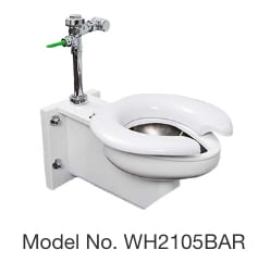 WH2105BAR Off-Floor Stainless Steel Toilet