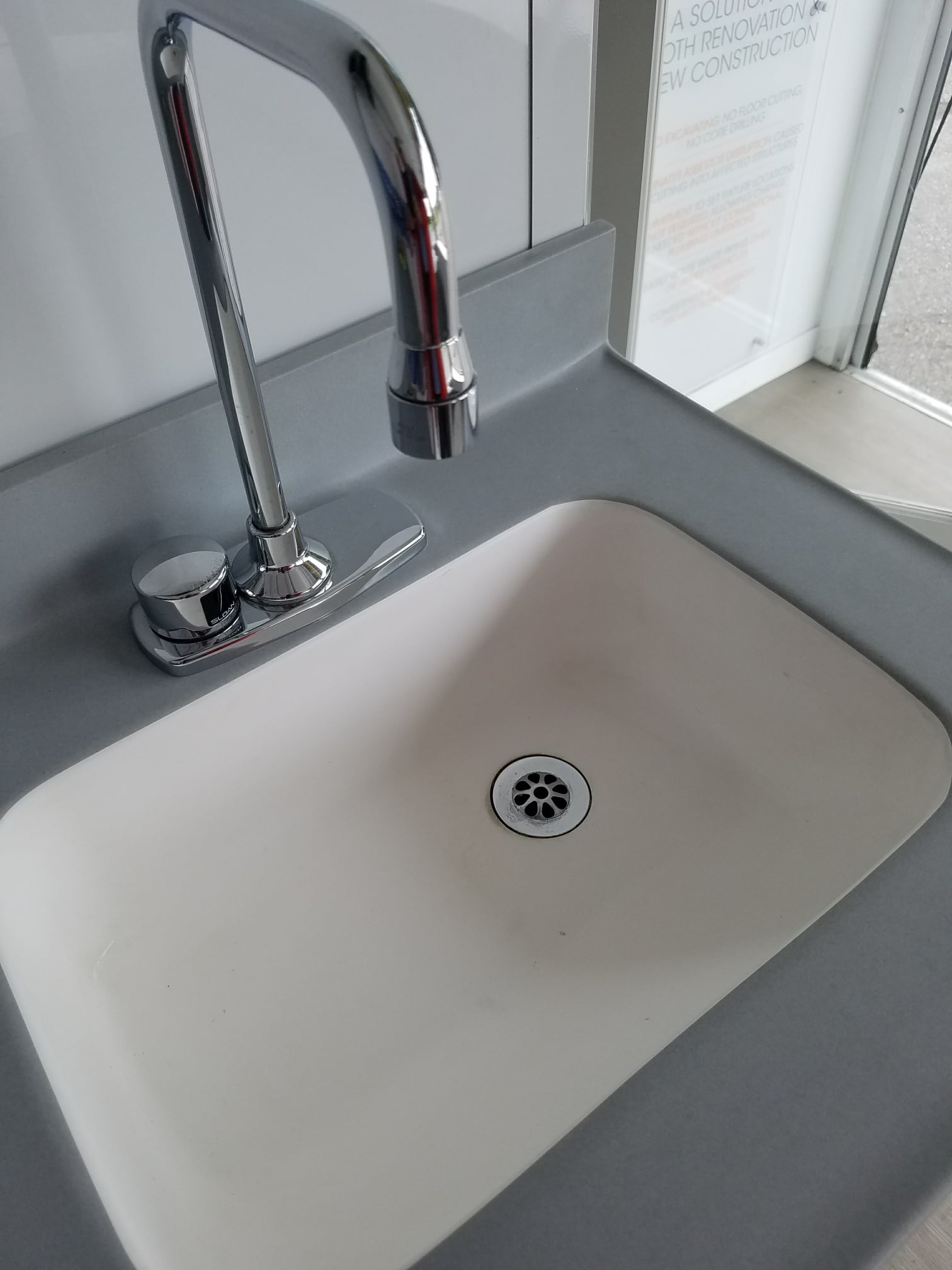Whitehall's non-porous solid surface sinks are seamless throughout