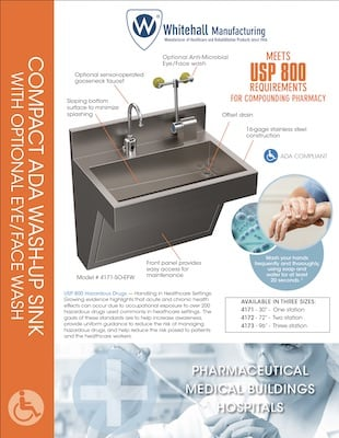 Compact ADA Wash-Up Sink