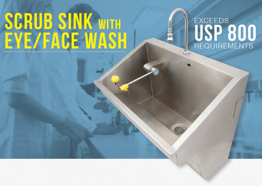 scrub sink eyewash graphic
